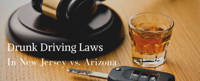 Drunk Driving Laws In New Jersey vs. Arizona
